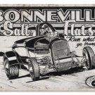 Bonneville Salt Flats HEAVY METAL SIGN BLACK WHITE