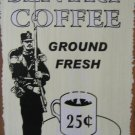 SENTRY COFFEE RETRO TIN SIGN