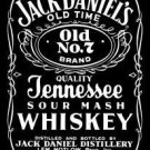 JACK DANIELS METAL TIN SIGN black