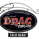 Drag Cartoons large oval metal sign w/Bracket