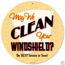 Clean Windshield heavy metal sign