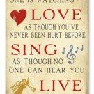 Dance Love Sing Live heavy metal sign