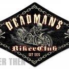 Deadmans Biker Club heavy metal sign