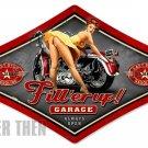Last Stop Bike Garage heavy metal sign