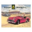 TRIUMPH TR3 SPORTS CAR TIN SIGN