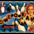 BOWLORAMA TIN SIGN BOWLING