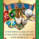 IT'S GOLF TIN SIGN