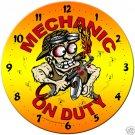 Mechanic on Duty  SHOP GARAGE Clock