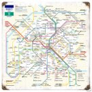 Paris Metro Subway Line Railway HEAVY METAL SIGN