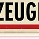 FLUGZEUGHALLE airplane hangar German Heavy Metal Sign