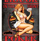 Roxy's Roadhouse Liquor PIN UP GIRL heavy metal sign
