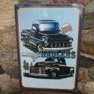 Classic Haulers chevy trucks METAL SIGN