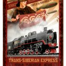 Trans Siberian Express railroad HEAVY METAL SIGN