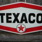 TEXACO HEXAGON DIE CUT HEAVY METAL SIGN