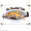 P-51 Mustang Aircraft Big Beautiful Doll Sign