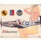 P-51 Mustang Salute AIRCRAFT heavy metal sign