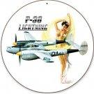 P-38 Lightning Nude Pin Up Girl Sign