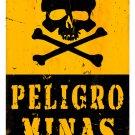Peligro Minas Heavy Metal Danger Mines Sign