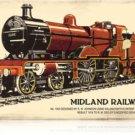 Midland Railway railroad Heavy Metal Sign