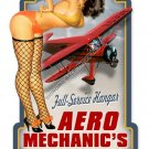Aero Mechanic's Mate Diecut Heavy Metal Sign