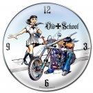 Old School Round Metal Clock