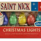 ST NICK CHRISTMAS LIGHTS Heavy Metal Sign