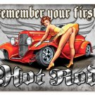 First Hot Rod HEAVY METAL SIGN