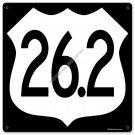 26.2 miles Marathon HEAVY METAL SIGN