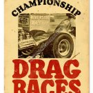 HOT ROD DRAG RACES RIVERSIDE Heavy Metal Sign