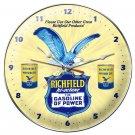 RICHFIELD HI OCTANE ROUND METAL CLOCK