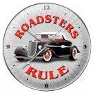 ROADSTERS RULE METAL CLOCK