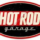 HOT ROD GARAGE HEAVY METAL SIGN