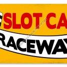 SLOT CAR RACEWAY HEAVY METAL SIGN