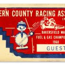 Kern County Racing Ticket HEAVY METAL SIGN