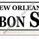 New Orleans Bourbon Street HEAVY METAL SIGN