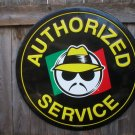LOW RIDER AUTHORIZED SERVICE HEAVY METAL SIGN