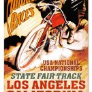 LA MOTORCYCLE RACES STATE FAIR TRACK Heavy Metal Sign