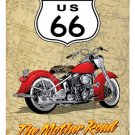 MOTHER ROAD ROUTE 66 HEAVY METAL SIGN