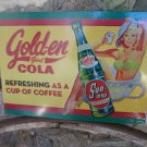 GOLDEN GIRL COLA SUNDROP TIN SIGN