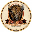 BUFFALO CHIP HEAVY METAL ROUND SIGN