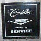 CADILLAC AUTHORIZED SERVICE TIN  METAL SIGN