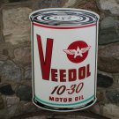 VEEDOL MOTOR OIL CAN SIGN W
