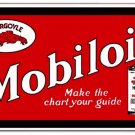GARGOYLE MOBILOIL RED HEAVY STEEL SIGN