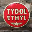 TYDOL ETHYL FLYING A PORCELAIN COATED SIGN