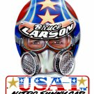 BRUCE LARSON USA HELMET METAL SIGN