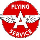 FLYING A SERVICE HEAVY METAL SIGN 35""