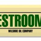 POLLY GAS RESTROOMS DOOR PUSH TIN SIGN