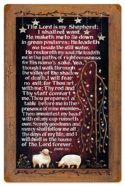 Lords Prayer Vintage Metal Sign