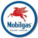 MOBILGAS ROUND METAL SIGN