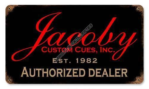 Jacoby Authorized Dealer HEAVY METAL BILLIARDS SIGN